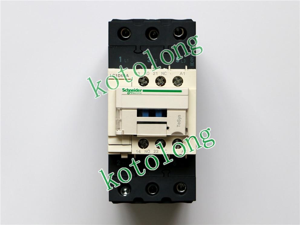 AC Contactor LC1D65A LC1-D65A LC1D65AK7 100V LC1D65AL7 200V LC1D65ALE7 208V LC1D65AM7 220V lc1d series contactor lc1d32 lc1d32kdc 100v lc1d32ldc 200v lc1d32mdc 220v lc1d32ndc 60v lc1d32pdc lc1d32qdc lc1d32zdc 20v dc