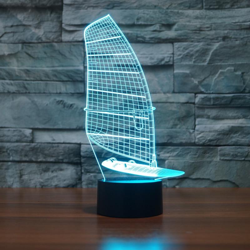 Segelboot Weihnachtsgeschenk Marine schiff modell 3D Nachtlicht 7 ...