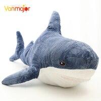 Vanmajor 80 130CM Giant Hammerhead Shark Plush Toy High Quality Lifelike Shark Toy Soft Stuffed Animal Children Kids Gift Dec