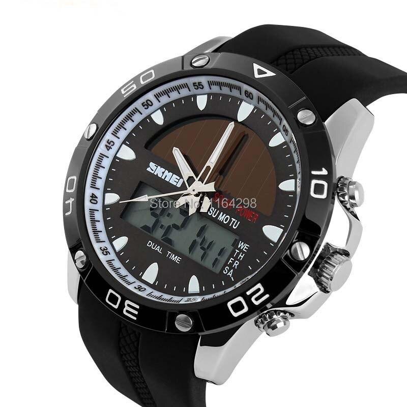 Free shipping 2015 NEW arrival outdoor sport digital quartz Solar Skmei wrist watches font b men