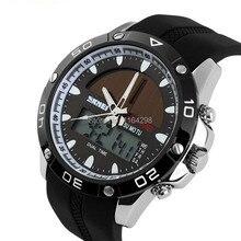 Envío gratis 2015 nueva llegada exterior deporte digital y cuarzo Solar Skmei relojes de pulsera hombres Masculino Relogio del reloj digital