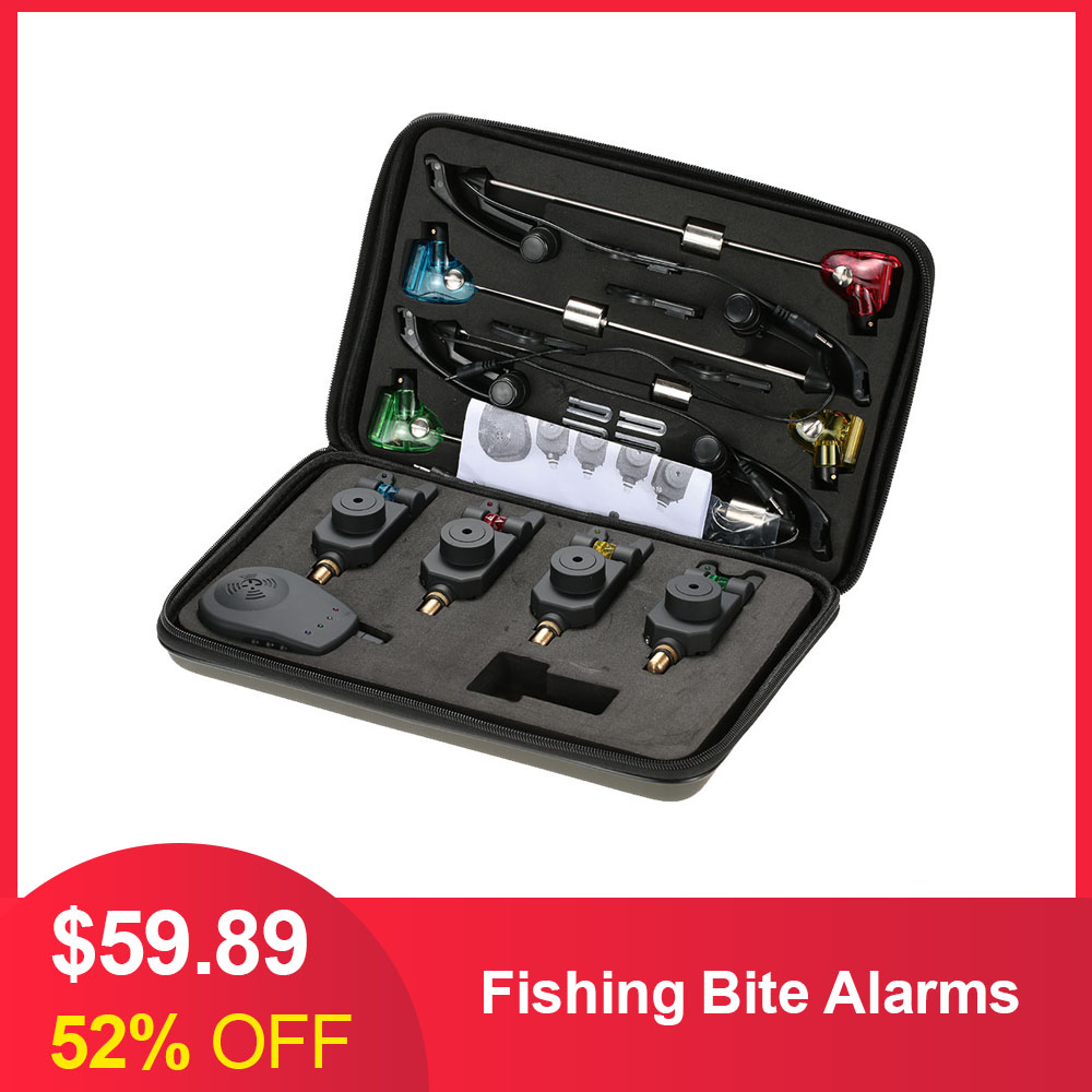 ND Carp Fishing Bluetooth Wireless Bite Alarm S9 3 Rod Set with Screen receiver