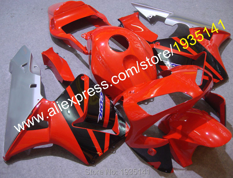 Hot Sales,For Honda CBR600RR F5 2003-2004 CBR 600 RR 03-04 Red/Black/Silver Body Work Motorcycle Fairings (Injection molding)