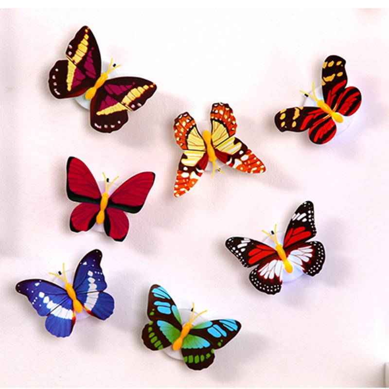 Lovely Butterfly LED Night Light Color Changing Light Lamp Beautiful Home Decorative Wall Nightlights Color Random On Sale