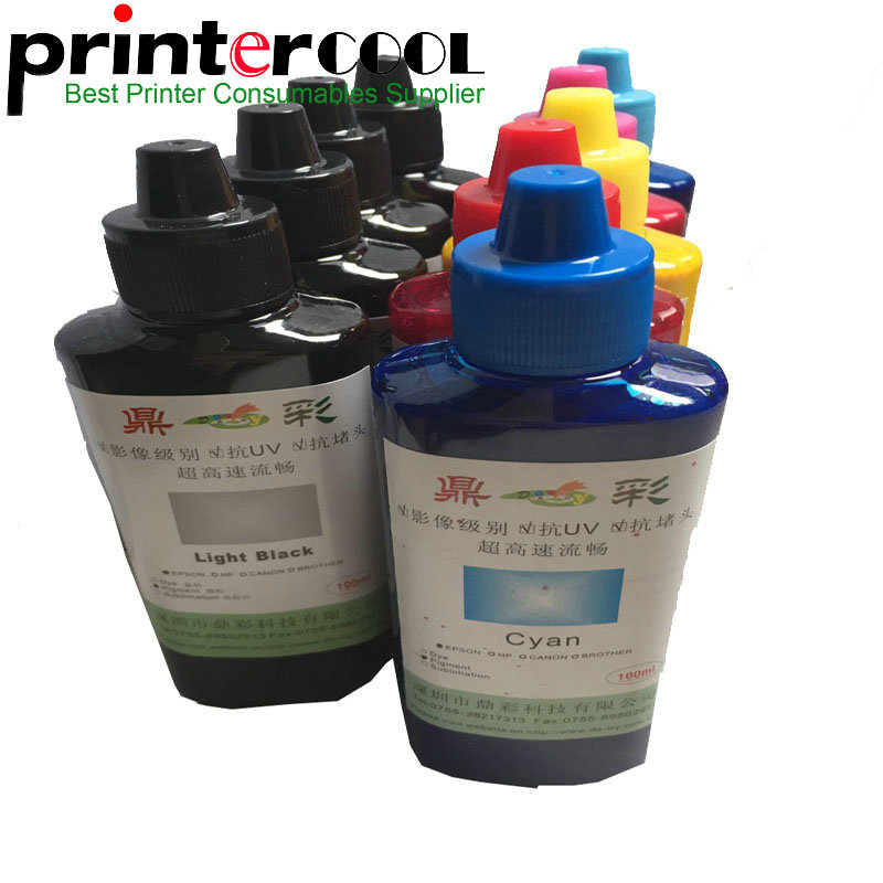 Einkshop Universal pigment ink 9 Color 100 ML Bottle for Epson SureColorP600 P800 Stylus Pro3800 3880 Printer Refill ink Pigment in Ink Refill Kits from Computer Office