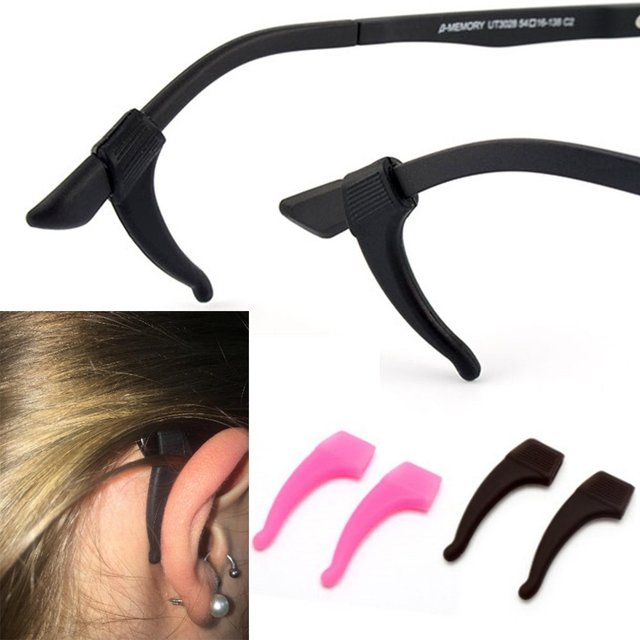 c8855bd462b 10Pairs Lot Soft Silicone Anti-slip Holder For Glasses Accessories Ear Hook  Sport Eyeglass