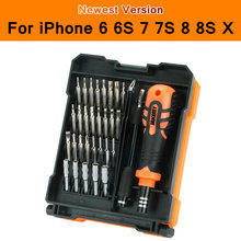 цена на Screwdriver Bit Set For Cellphone Mobile Phone iPhone 6 6S 7 7S 8 8S X PC Laptop Repair Fix Tool Kit 33in1 Bits JAKEMY JM-8160