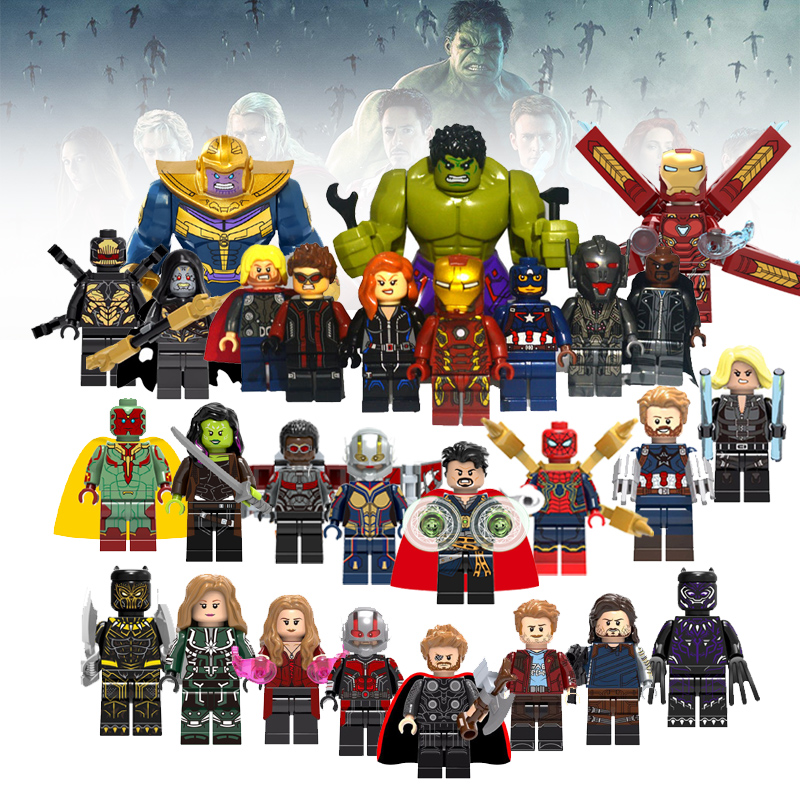 Super Hero Building Blocks Iron man Black Panther Figurines Avengers Infinity War Compatible with LegoING Figures Star Wars ToysSuper Hero Building Blocks Iron man Black Panther Figurines Avengers Infinity War Compatible with LegoING Figures Star Wars Toys