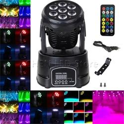 New Arrival RGBW LED Stage Light Moving Head Beam Party Light DMX-512 Led Dj Xmas Christmas Sound Active DMX Disco Light 1/5/10X