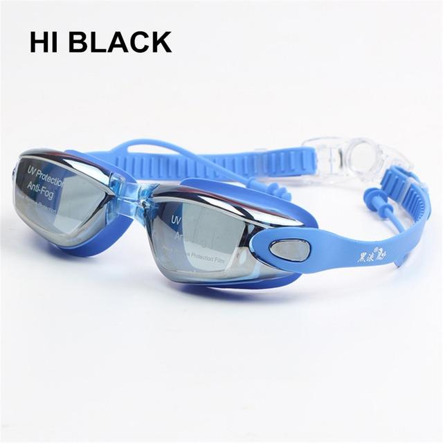 Prescription Swimming Goggles Anti-fog UV Earplug Diopter Sports Eyewear