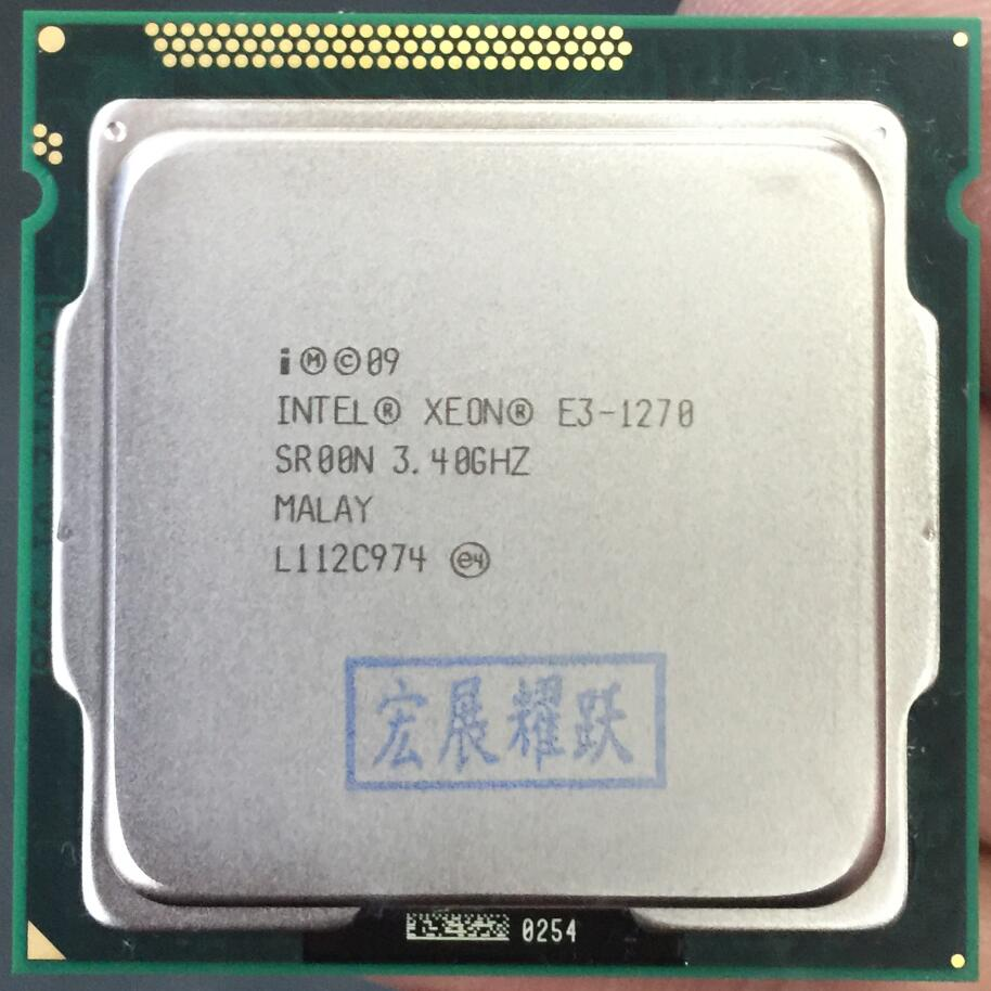 Intel PC portátil CPU Xeon E3-1270 E3 1270 Quad-Core LGA1155 computadora PC de escritorio CPU