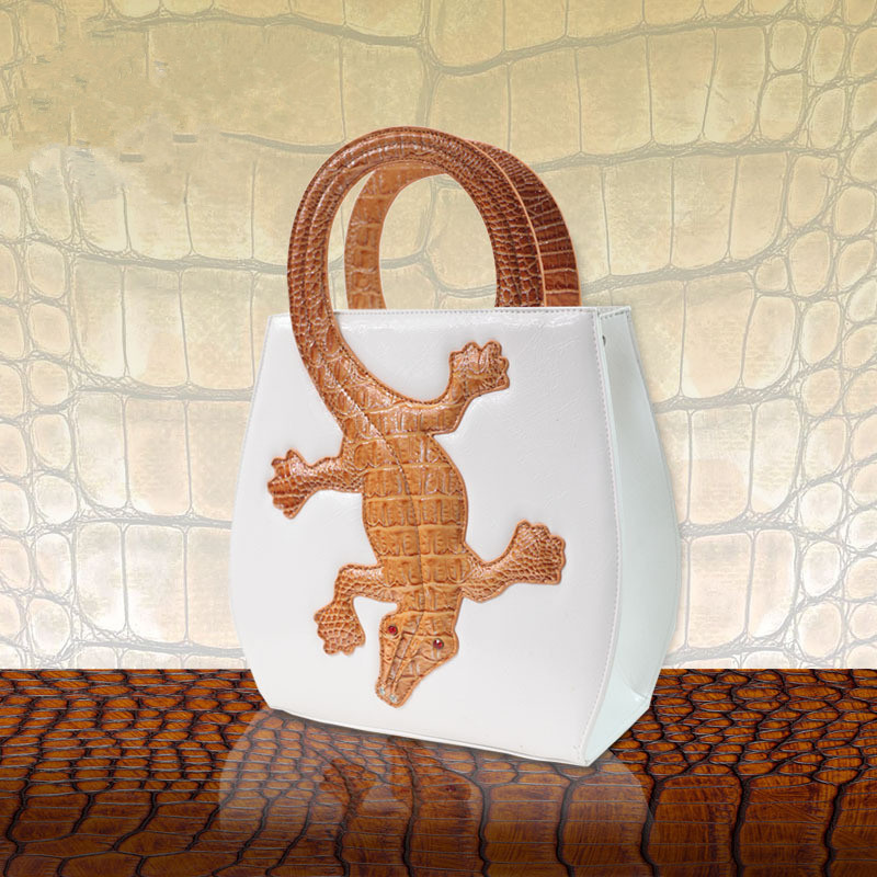 ФОТО 2017 new original crocodile women handbag fashion creative personality shoulder bag female