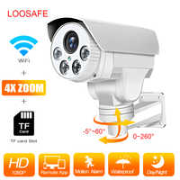 LOOSAFE Wifi ONVIF Outdoor Bullet Camera Wireless Wired P2P Alarm Full HD Home Security Camera  IRCut Night Vision CCTV Cameras
