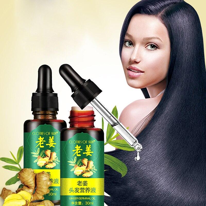 Горячая 30 мл имбирный рост волос сывороточная эссенция против выпадения волос жидкость поврежденные волосы ремонт растет быстрее ремонт