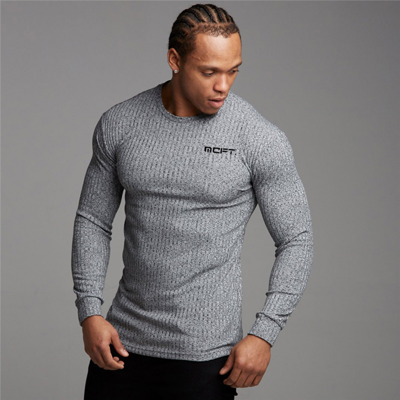 New Brand Fashion Pullovers Men Autumn O Neck Sweaters Crossfit Knitted Jumpers Men Fitness Clothes Slim Fit Male Tops