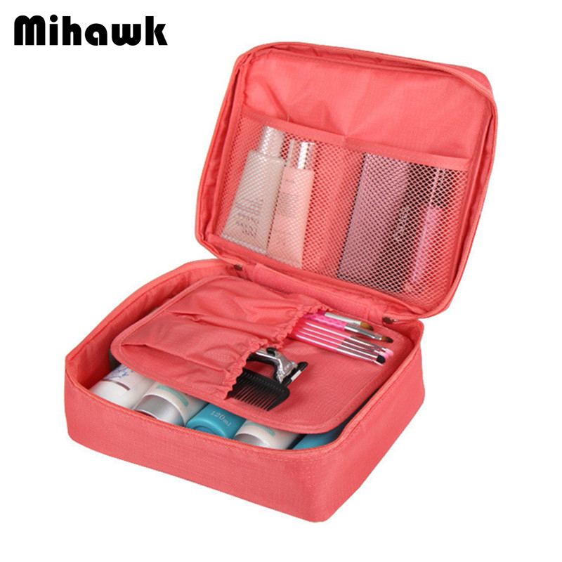 Mihawk Women s Cosmetic Travel Bags Toiletry Wash Bra Underwear Makeup Pouch  Trip Case Beautician Organizer Accessories aec868bf58fd2