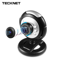 TeckNet C016 USB HD 720P Webcam 5 MegaPixel 5G Lens USB Microphone 6 LED Web Cam