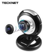C016 TeckNet USB HD 720 P Webcam de 5 Megapíxeles 5G Lente Micrófono USB 6 LED Cámara Web Cam