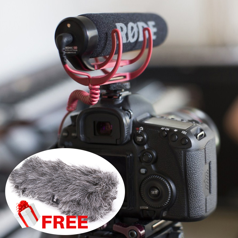 Ulanzi Rode VMGO Video MicLightweight Shockproof Shotgun Microphone for Canon Nikon Sony DSLR DV Camcorder,For Pro Vlogging