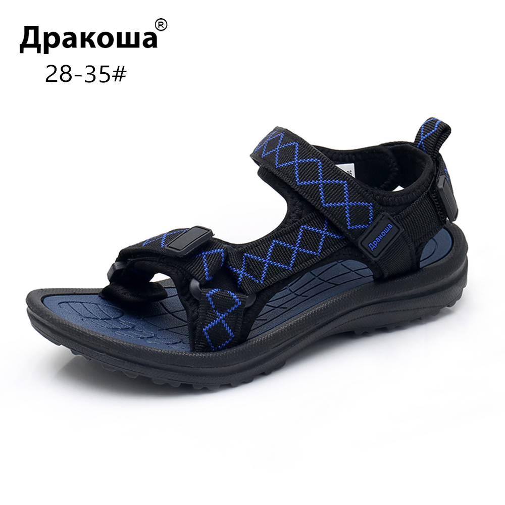 Apakowa Boys Open Toe Beach Walking 3 Strap Sports Sandal Summer Sneaker Little Kid Camouflage Washable Quick Drying Water Shoes