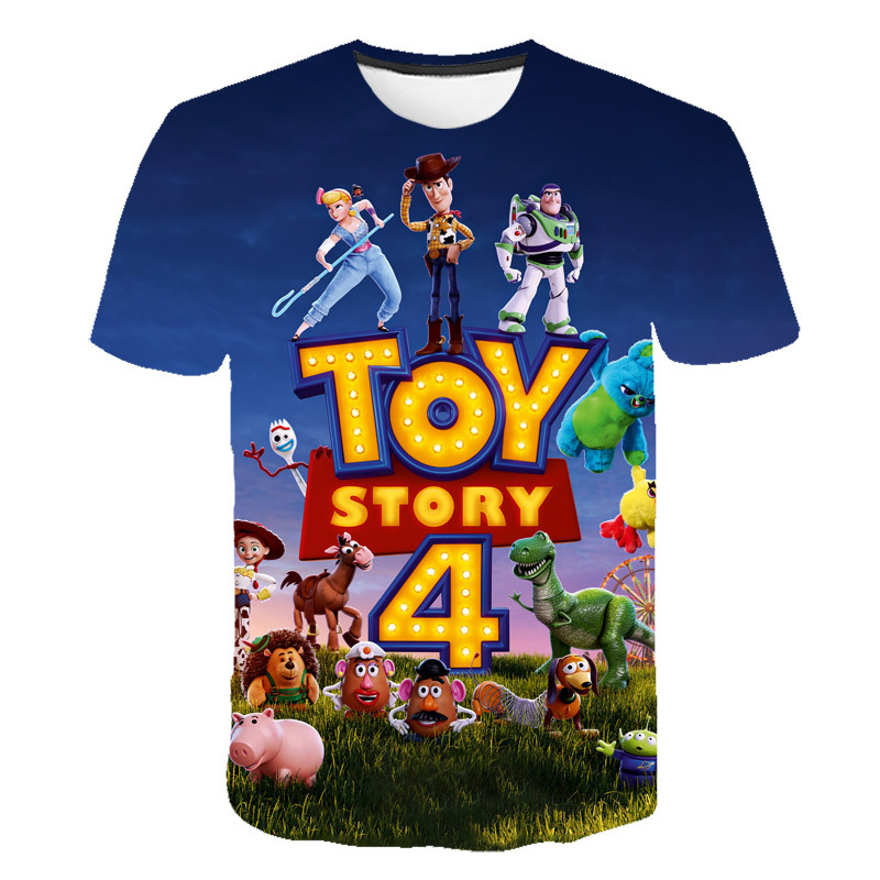 New Hot Sales Toy Story 4 3D Printed   T  -  shirt   Fashion Summer Short Sleeve Cartoon   T     shirt   Fashion casual Boys and Girls   T  -  shirts
