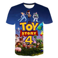 New Hot Sales Toy Story 4 3D Printed T-shirt Fashion Summer Short Sleeve Cartoon T shirt Fashion casual Boys and Girls T-shirts