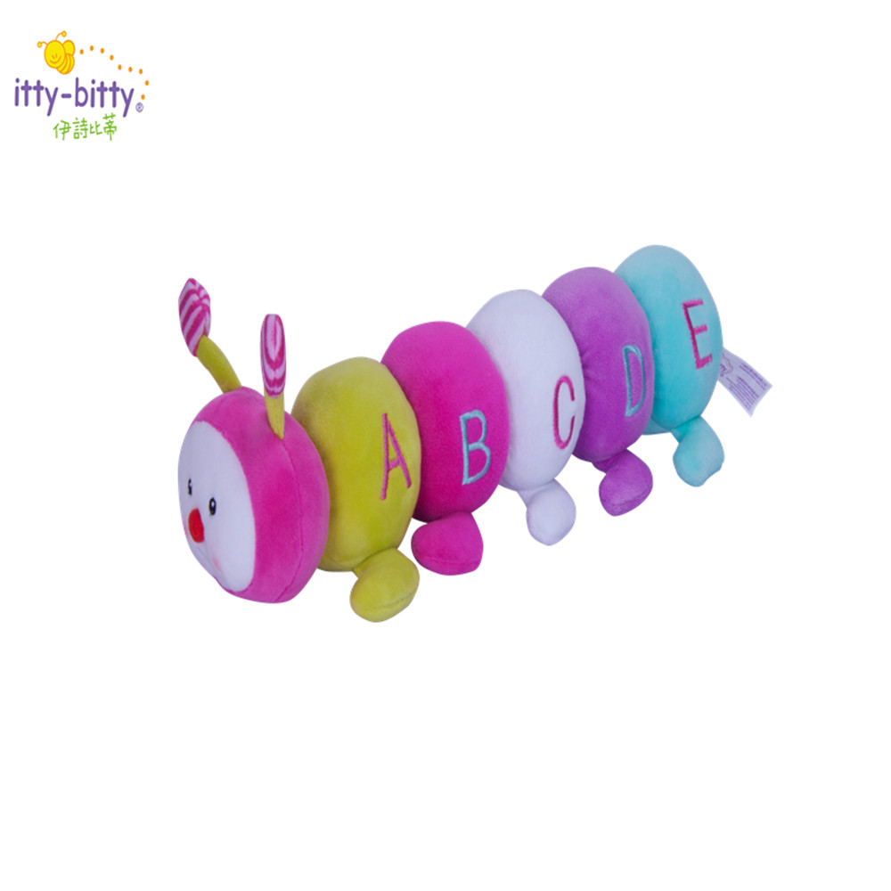 itty-bitty 31*9 cm Montessori Educational Toys Plush Stuffed Rattle BiBi Toy Washable and Learning Toys for 13-24 Months