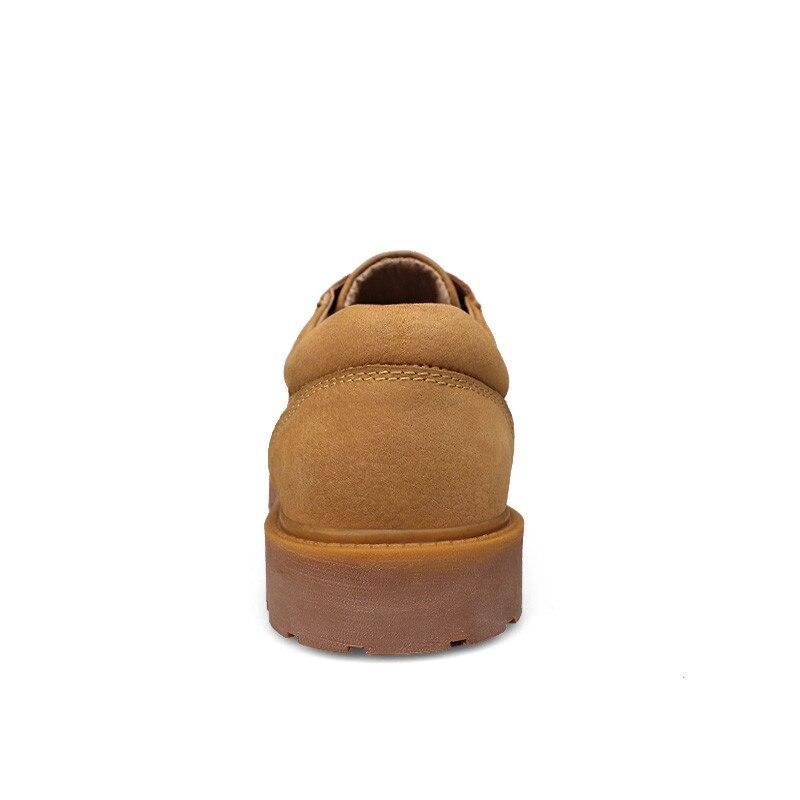 Plus Lace Trabalham Quente Genuíno Qualidade 48 Martin Size khaki 36 De Respirável Alta Up Yellow Fasion Do Sapatos Gold Causais Couro Homens w40FZXx