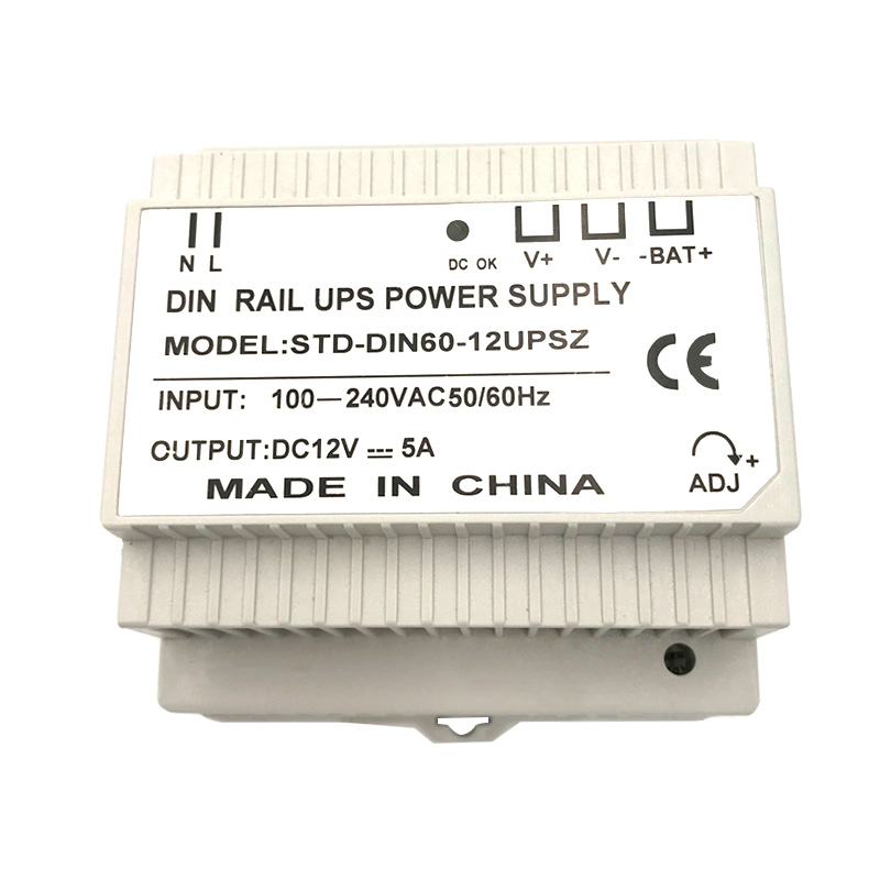 Din Rail 12V 5A Switching Power Supply With UPS Charging
