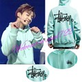 NEW Arrival Kpop GOT7 Just Right Mark BTS Jung Kook Mint Green Unisex Hoodies Pullover Cap