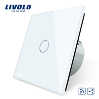 Livolo EU Standard Wireless Switch 1 Gang 2 Way, With Remote Function ,Touch Switch,VL C701SR 1/2/5