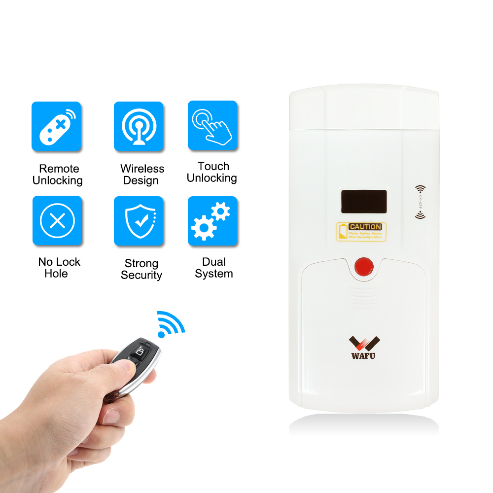Télécommande sans fil intelligente serrure électronique sans clé serrure de porte Invisible Anti-vol serrures de sécurité 4 télécommandes