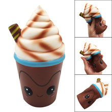Jumbo Milk Chocolate Ice Cream Slow Chocolate Strawberry Rising Phone Straps Scented Bag Charm Funny Gift Soft Grip Toys For Kid(China)