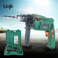 Urijk 220V Electric Drill Set Variable Speed Churn Drill Impact Drill Power Tool Accessories Dremel Electric