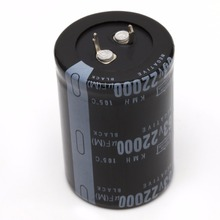 22000UF 63V Aluminum Electrolytic Capacitor 105 Celsius Dimension 35x50mm Cylindrical