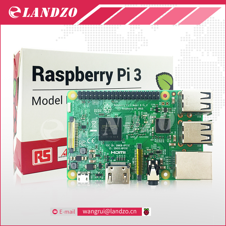 LANDZO RS Version Original font b Raspberry b font Pi 3 Model B 1GB LPDDR2 BCM2837
