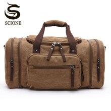 Большая емкости Для мужчин путешествий Спортивные холстиные многофункциональные дорожные сумки Сумки на плечо
