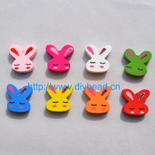 20pcs/lot DIY Fashion Jewelry Beads Jewelry Accessory Cartoon Wooden Beads For Necklace Making Lovely Rabbit Mix Color