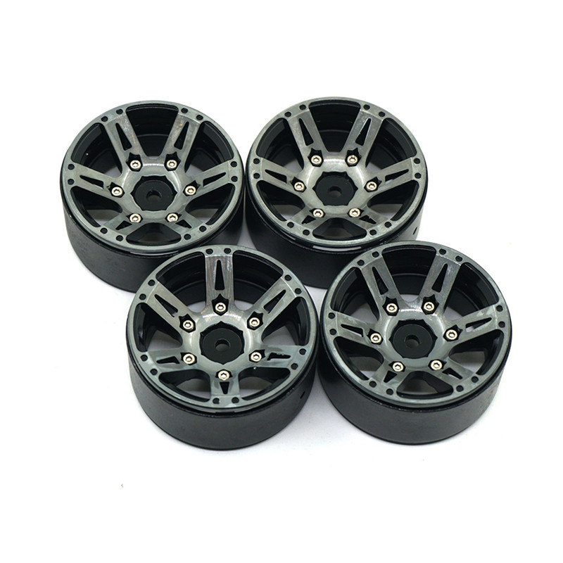 1.9inch Beadlock Wheel Rims 1/10 Rock Crawler Car Alloy Wheels Hub For RC Crawler Car Traxxas Axial SCX10 CC01 RC4WD mxfans rc 1 10 2 2 crawler car inflatable tires black alloy beadlock pack of 4