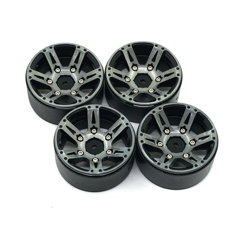 1.9inch Beadlock Wheel Rims 1/10 Rock Crawler Car Alloy Wheels Hub For RC Crawler Car Traxxas Axial SCX10 CC01 RC4WD 1 9 metal alloy wheel hubs 1 9 inch beadlock wheel rims for 1 10 rc crawler scx10 90022 90027 90046 90047 cc01 trx4 tf2