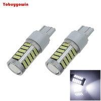 2pcs White T20 7440 63 SMD 2835 LED Car Brake Blub Turn Signal Light 12V