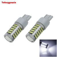 2pcs White T20 7440 63 SMD 2835 LED Car Brake Blub Turn Signal Light 12V