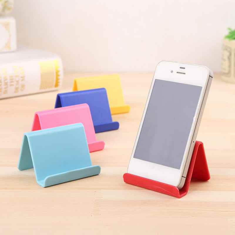Mobile Phone Holder Table Desktop Stand Plastic Desk Mount Candy Color Mini Portable Holder Universal Bracket For Smartphone