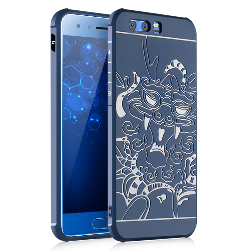 Luxury Case For Huawei Honor 9 Cases Luxury High Quality 3D Relief Airbag Shockproof Soft Silicone