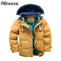 Abreeze niños abajo y Parkas 4-10 t invierno niños prendas de abrigo niños casual cálido chaqueta con capucha para niños sólidos niños abrigos cálidos