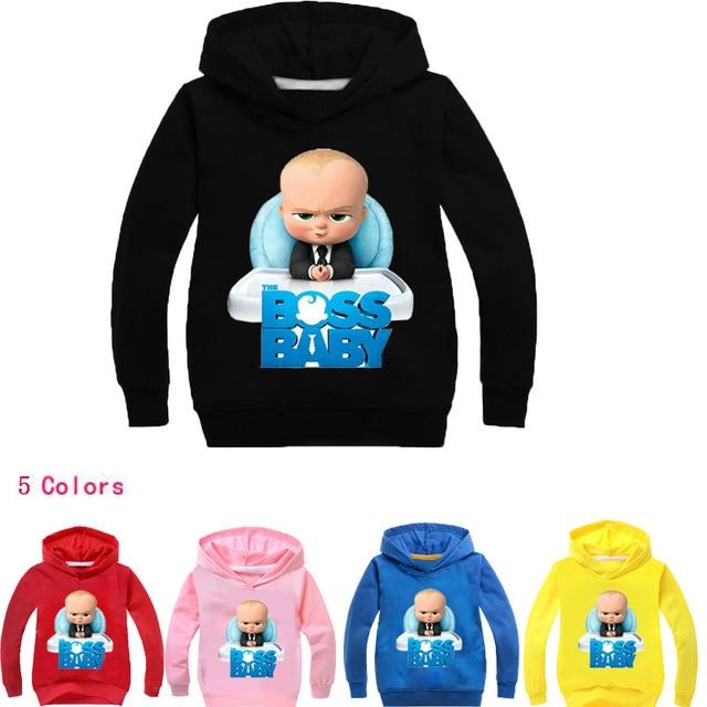 ec2175dc8fd0 DLF 2-12Years Boss Baby Birthday Gift Kids Boys Sweatshirts Girls Hoodies  Teenagers Pullover Tops Children Clothing Hip Hop Nova