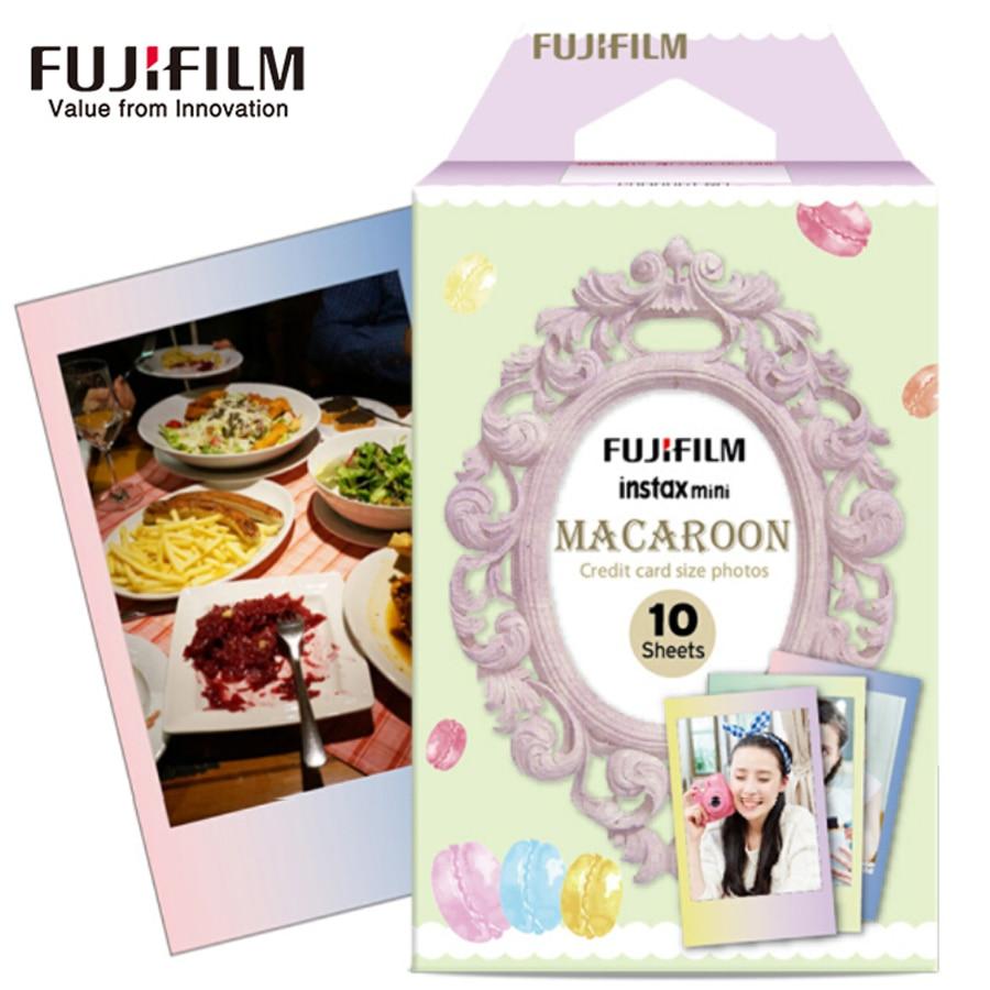 Galleria fotografica 10 Sheets Fujifilm Fuji Instax Mini 8 Film Macaroon Color Edge Instant camera For 8 7s 7 50s 50i 25 90 SP-1 Photo Paper