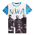STRAIGHT OUTTA COMPTON WITH N.W.A. 3D Print T-shirt Rap Giants NWA Teen Cotton Unisex Costume Summer Tee Shirts Loose Homme Tops