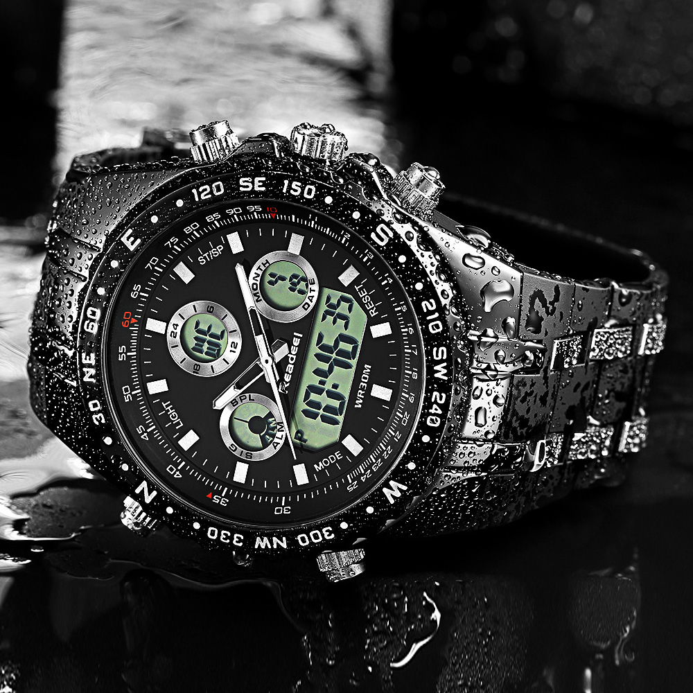 Readeel Heren Horloges Topmerk Luxe Waterdichte Led Digitale quartz horloge Man Sport Polshorloge Mannen Waterdichte Led Klok Man