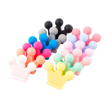10PC Baby Silicone Teether Crown Silicone Beads For Pacifier Chain Chewing DIY C